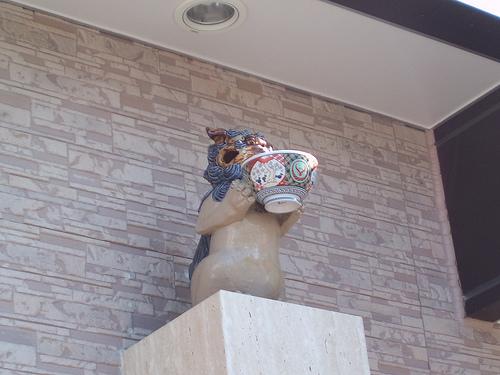 沖縄吉野家のシーサー